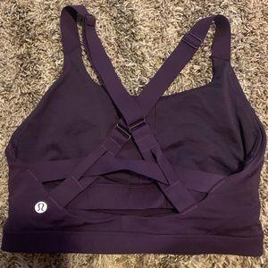 Like new Lululemon Eggplant Crop top bra